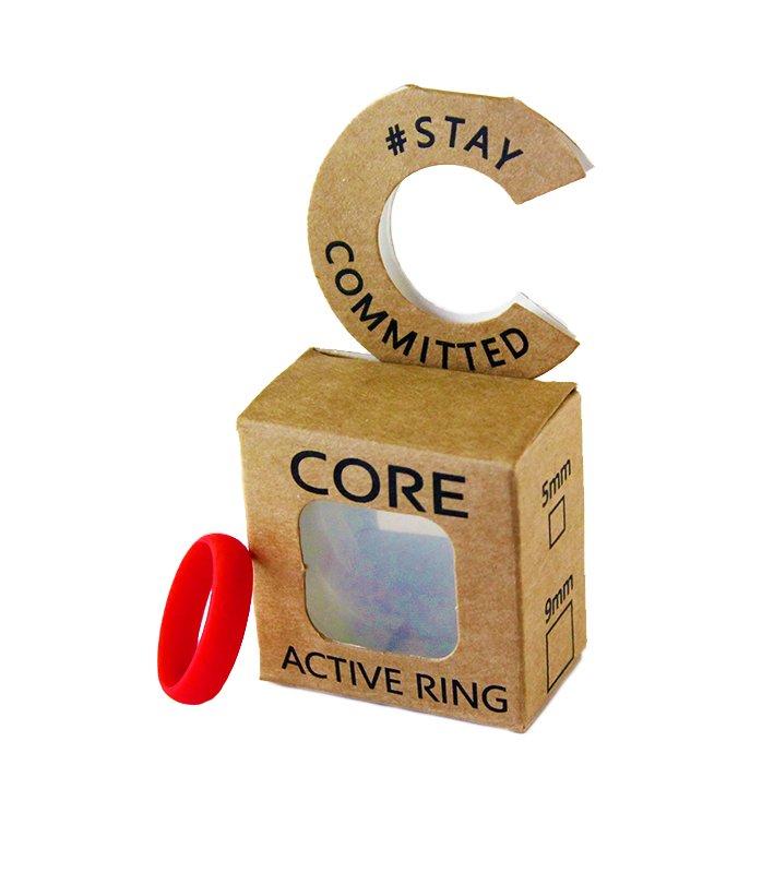 core-lean-fahrenheit-red-silicone-ring
