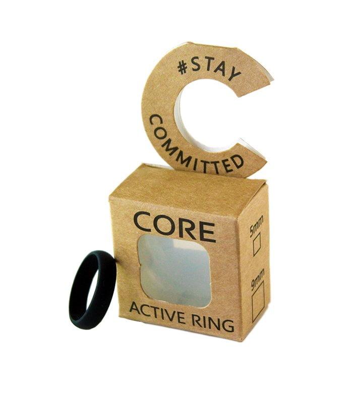 core-lean-jet-black-silicone-ring